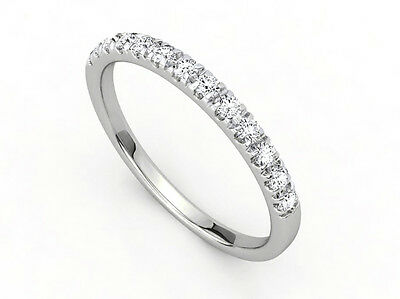 Special Order 0.25Ctw 14K White Gold Natural Diamond Ladies Stackable  Band Ring
