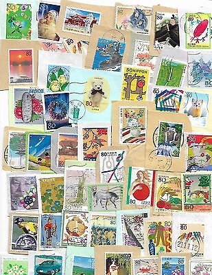 Japan kiloware collection of 50 different used stamps on paper #3