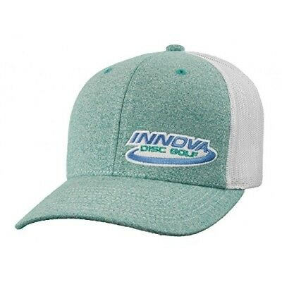 (Heather Teal) - Innova Logo Adjustable Mesh Disc Golf Hat. Free Delivery