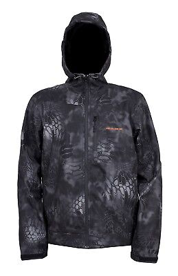 (Large, Kryptek Typhoon Camo) - Grundens Gauge Midway Softshell Jacket