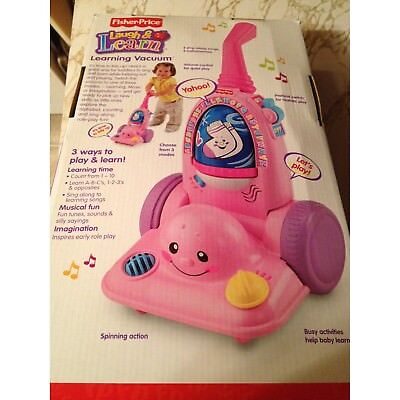 Fisher-Price Laugh & Learn Learning Pink Vacuum. Brand New