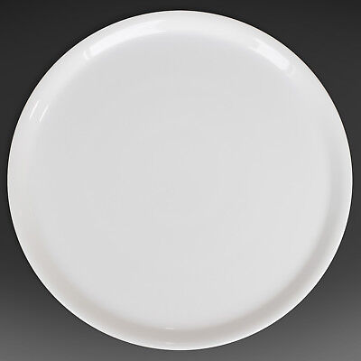 "Pizza Plate - White Porcelain 13"" Made in Italy. 1 Dish."