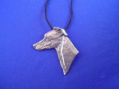 Whippet Greyhound necklace Pewter Hound Dog Jewelry by Cindy A. Conter 11P