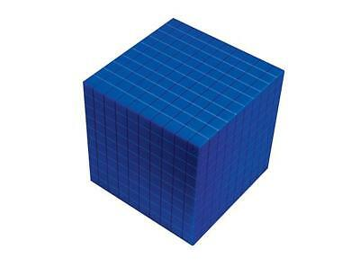 MAB Base Ten Blocks Componets Cube Blue 1p Maths Teacher Resource Learning