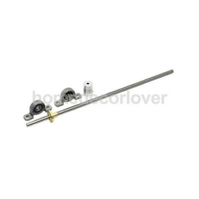 T8 500mm Stainless Steel Lead Screw Shaft Coupling Mounted Ball Bearing #2
