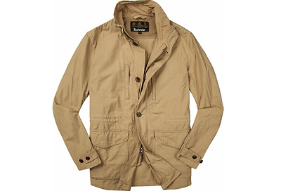 Barbour Men's Cumbrae  Jacket - Stone, Size Large L MSRP $379