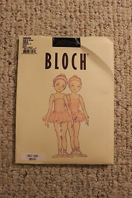 NEW BLOCH Endura Black Footed Tights for Children Medium 6-8 Style TO921G