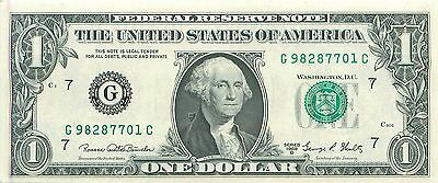 1969-D G/C (CHICAGO) $1 Federal Reserve Note One Dollar Bill