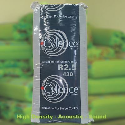 R2.5 (430)(HD) Thermal Acoustic Sound Insulation Glasswool H/Density Batts.