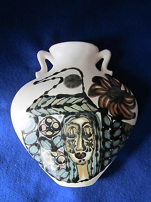 Beautiful Vintage Pablo Picasso Style Ceramic Handmade Wall Pocket