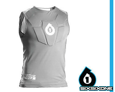 SixSixOne NEW Sub Gear Sleeveless Chest Protector BMX Mountain Bike Off Road MX
