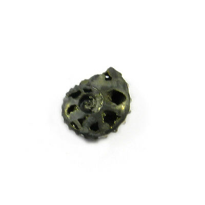 1Pcs Rare Product 16MM Russian Pyrite Ammonite Fossil Jewelry Gemstone GS00827