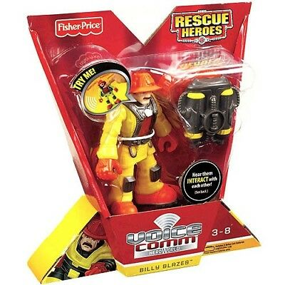 Fisher-Price Hero World Rescue Heroes Voice Comm Billy Blazes Figure. USA Toys