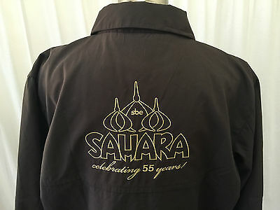 New Vintage Sahara Casino Las Vegas Medium 55th Anniversary Lined Jacket Large