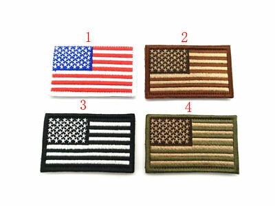 1X USA AMERICAN FLAG TACTICAL US ARMY MORALE BADGE SWAT OPS HOOK LOOP PATCH New