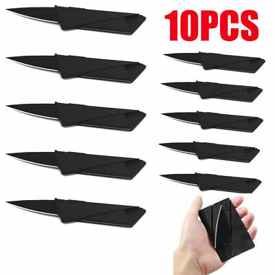10PCS Credit Card Knives Lot Folding Wallet Thin Pocket Survival Micro Knife