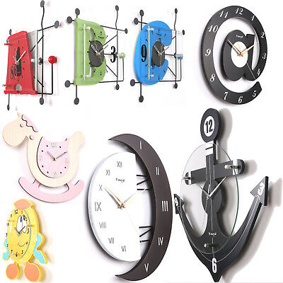 Wall Clock Home Office Decorating Quartz Silent Watch Timed Christmas Gift UK