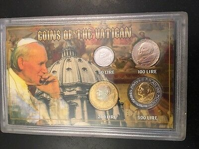 Coins Of The Vatican 1996 SSCA 50 100 200 500 Lire 4 Coins