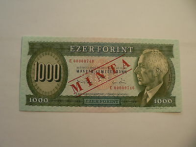 Banknote Ungarn 1000 Forint 1993 E Musterdruck
