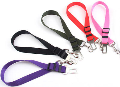 Adjustable Pet Dog Puppy Cat Safety Lead Leash Car Seat Belt Harness Tools