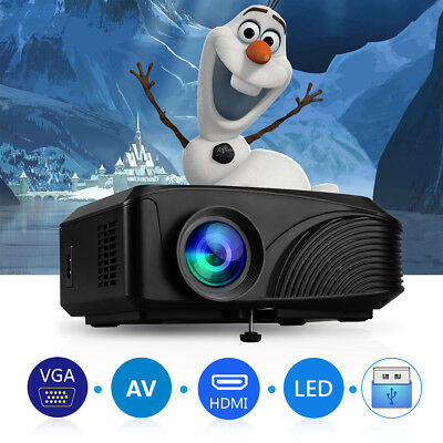 Portable 1080P HD LED Projector Home Cinema 1200 lumens for iPhone Smartphone PC
