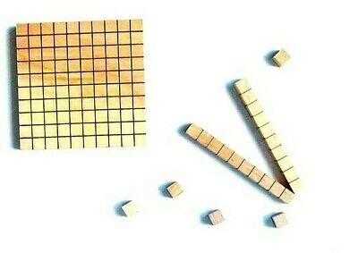 MAGNETIC Wooden MAB Base Ten Blocks Student Maths Teacher Resource for Numbers