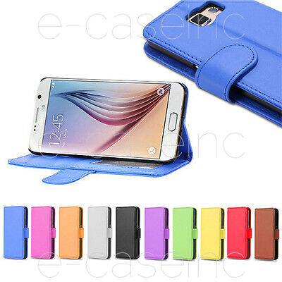 HOUSSE COQUE CUIR LEATHER WALLET SAMSUNG GALAXY S3 S4 Mini S4 S5 S6 S7 EDGE PLUS