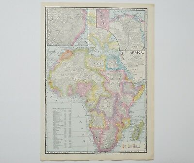 Vintage Africa Map - Antique Suez Canal Map - X Large Map - Johannesburg