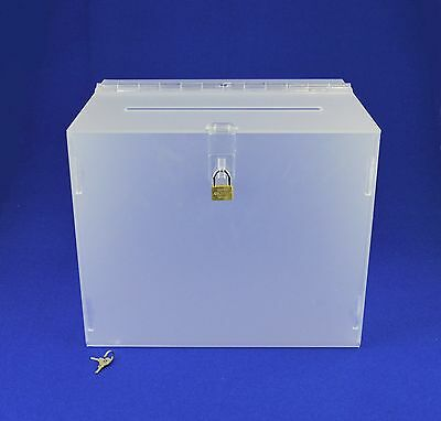 Suggestion Box / Collection Box Lockable - BB0005 Frosted