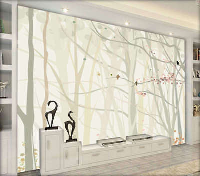 Abstract Pale Woods 3D Full Wall Mural Photo Wallpaper Printing Home Kids Decor