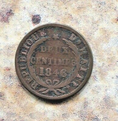Haiti - Historical Copper 2 Centimes, 1846 // An 43