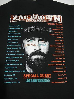 Zac Brown Band Jekyll Hyde 2015 Tour  2-sided T-Shirt Country Music Medium