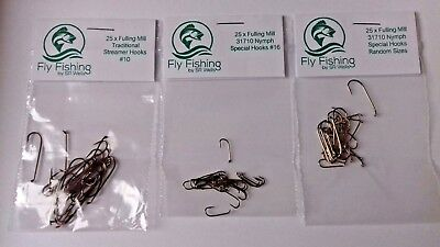 Fulling Mill HOOKS Special Traditional Streamer Nymph Trout Fly Tying Materials