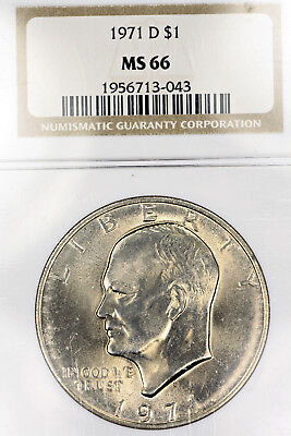 1971-D MS66 Eisenhower Clad Dollar $1 Ike graded by NGC!!