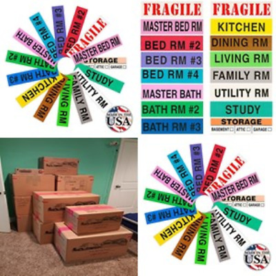 Home Moving Box Labels 800 Count House Pack Moving Supplies Packing Stickers