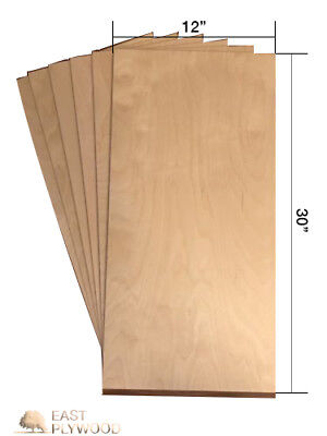 """Baltic Birch Plywood - 1/4"""" thick, 12"""" x 30"""" 3 pieces"""