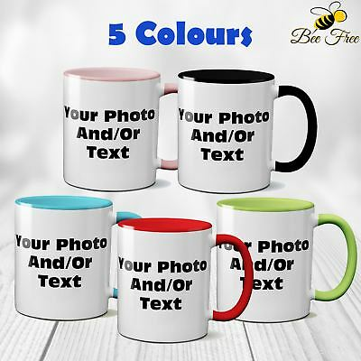 New Personalised Custom Print Mug Coffee Tea Cup Image Photo Text Birthday Gift