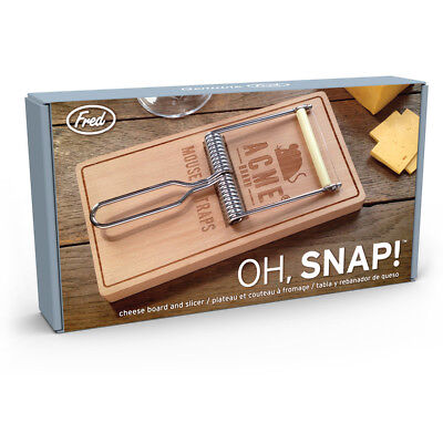 OH SNAP ! Mouse Trap CHEESE Cutting BOARD and SLICER SET by Fred