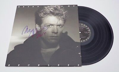 Bryan Adams Signed Reckless LP Record COA