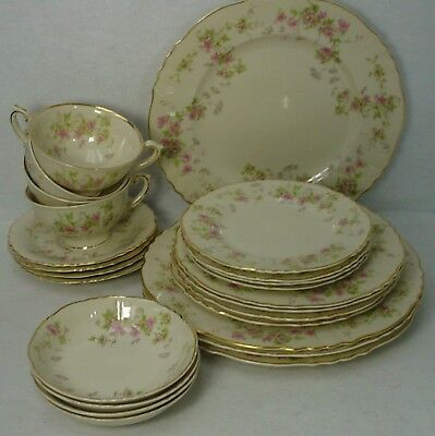 SYRACUSE china STANSBURY pattern 24-piece Set for FOUR (4) 4 6-pc Sets)