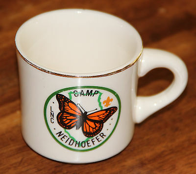 Vintage Boy Scouts Of America Coffee Cup Mug Camp Neidhoefer LNC GUC