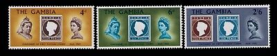 1969 Gambia stamps, Centenary of the 1st Postage Stamp SC# 238-40 Cpl. MLH set
