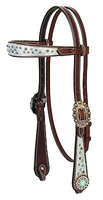 (Browband) - Weaver Leather Montana Sky Horse Browband Headstall. Best Price