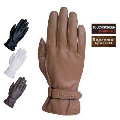 (8.5, Black) - Roeckl - Suprema riding gloves MONACO. Shipping Included