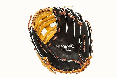 (Right Hand Throw, Black and Tan) - Mpowered Baseball Youth Ultra Lite H-Web