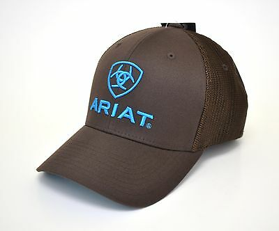 62e54a036d8 ARIAT WESTERN MENS Hat Baseball Cap Flex Fit Mesh Black 1502301 ...