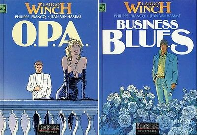 Lot Largo Winch Récit-Diptyque complet n°3&4 O.P.A. & Business Blues rééd°