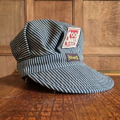 1949 Big Smith Denim Train Conductors Hat With Vintage With Soo Line Patch