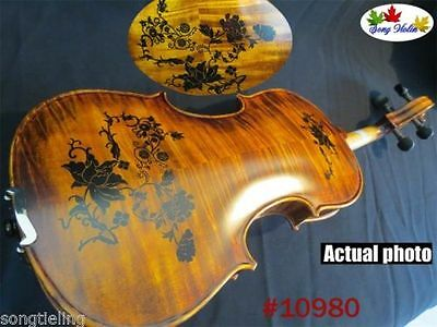 Copy old finished SONG Brand drawing Concert violin 4/4 great sound #10980