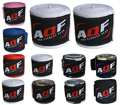 (Death Skull) - AQF Boxing Hand Wraps Bandages Boxing Inner Gloves Muay Thai